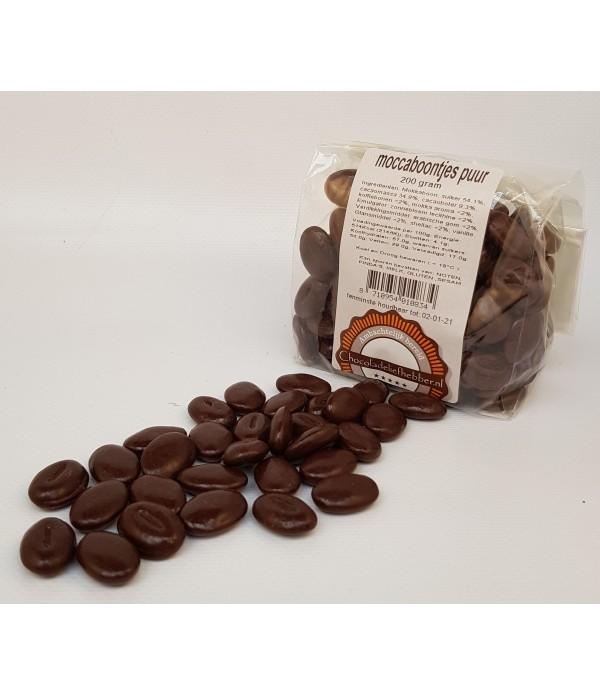 Moccaboontjes Chocoladeliefhebber - puur 200 gram