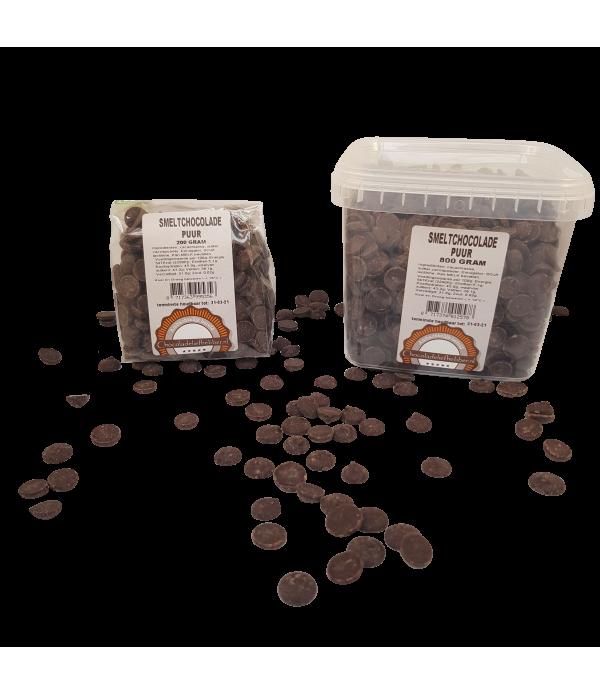 Smeltchocolade Callebaut puur - silo - 800 gram CHD