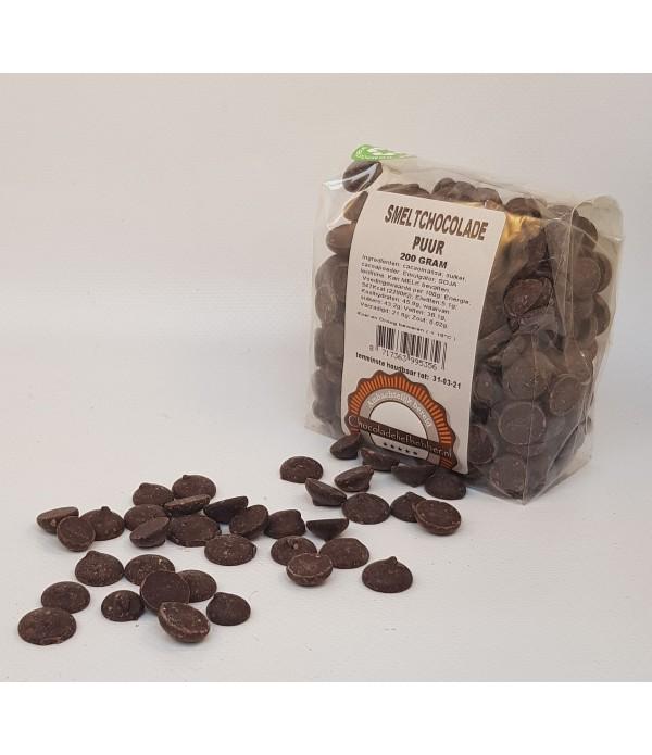 Smeltchocolade Callebaut puur - kruidenierszak - 200 gram CHD