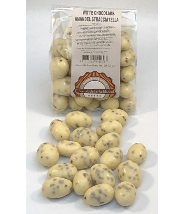 Witte chocolade-amandel stracciatella 200 gram - C...