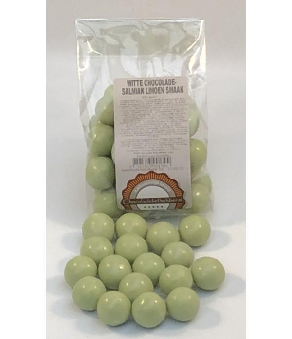 Witte chocolade-salmiak limoen smaak 200 gram - Ch...
