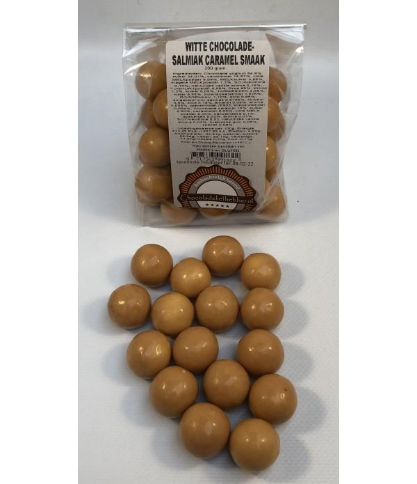 Witte chocolade-salmiak caramel smaak 200 gram - C...