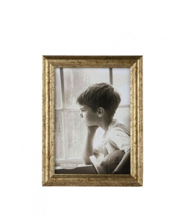 Fotolijst - PP - glas - Gold - Antique -  L 18,0cm...