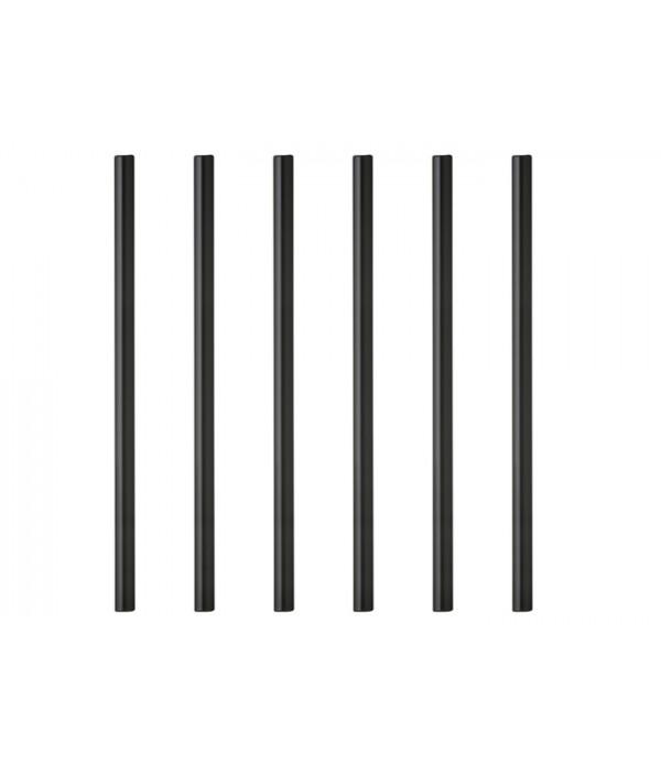 Rietjes zwart 145 mm/8 mm - set van zes - Lyngby D...