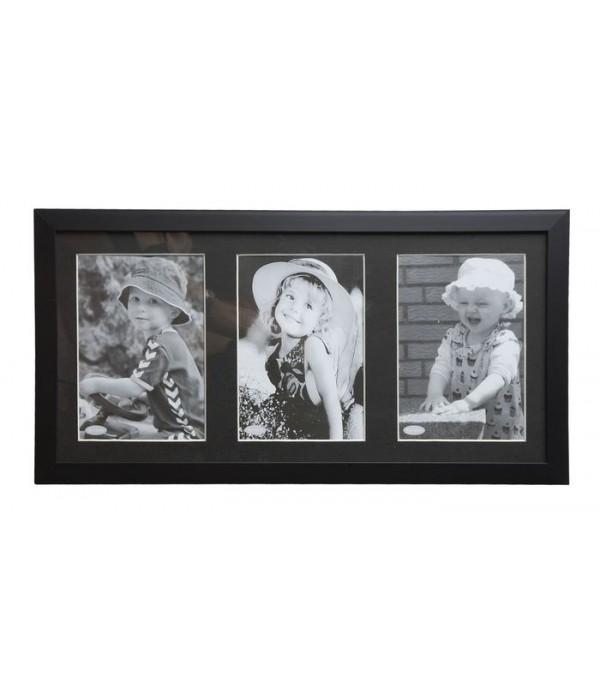 Fotolijst - KJ Collection Denmark zwart 36 x 18 cm
