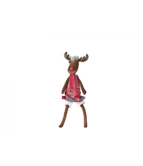 Figuur - Baby Rita - Rudolf - Katoen - H35 cm