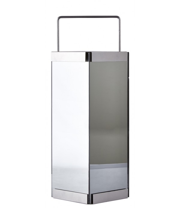 Lantaarn - met LED licht - 15 x 15 x 50 cm