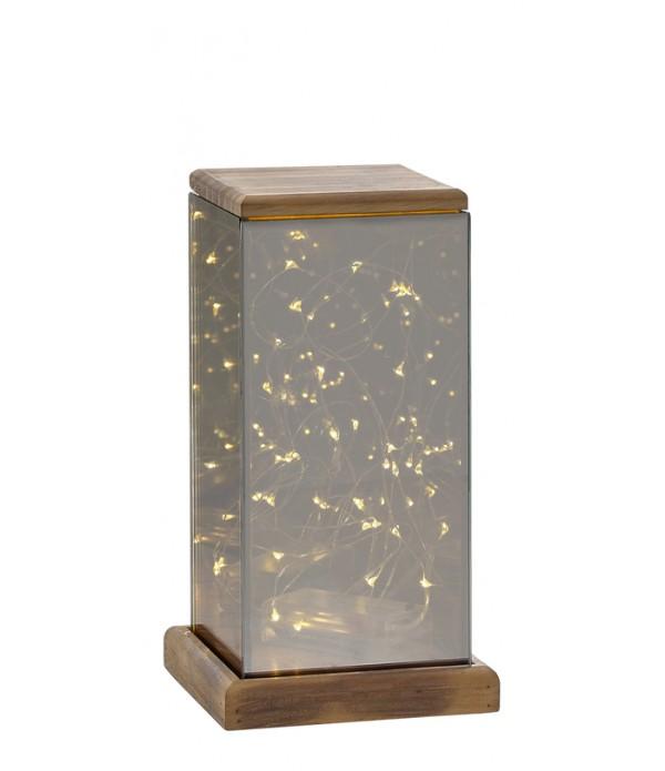 Lantaarn - met LED licht - 12x15x22,5 cm