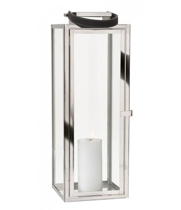 Lantaarn - met riem - RV - glas - zilver