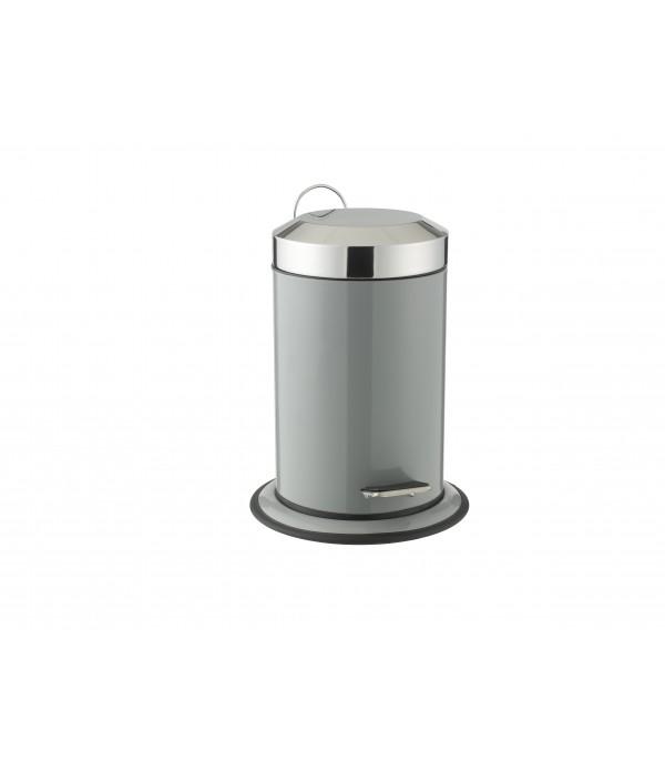 Pedaalemmer grijs 3 liter