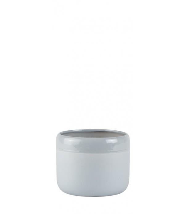 Bloempot - Ceramic - light grijs - D 14,0cm -  H 1...