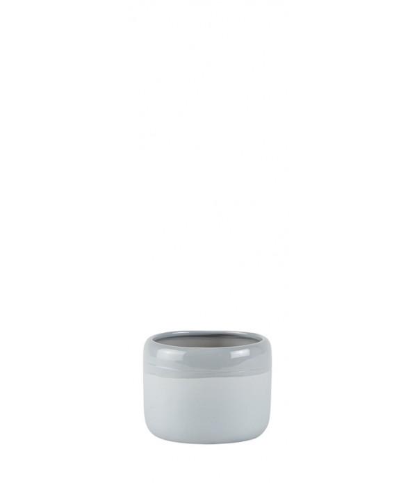 Bloempot - Ceramic - light grijs - D 11,0cm -  H 8...
