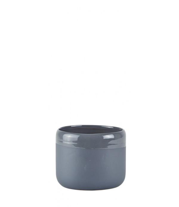Bloempot - Ceramic - Dark grijs - D 14,0cm -  H 11...