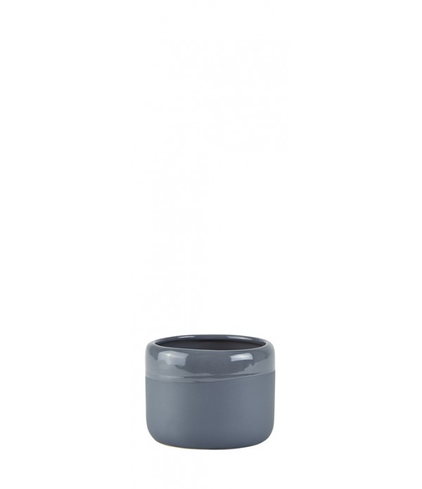 Bloempot - Ceramic - Dark grijs - D 11,0cm -  H 8,...