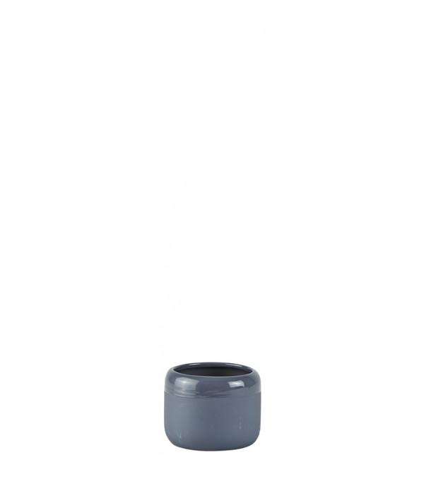 Bloempot - Ceramic - Dark grijs - D 8,0cm -  H 6,0...