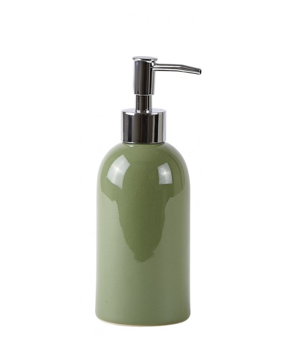 Soap dispenser - aardewerk - Green - D 7,0cm -  H ...