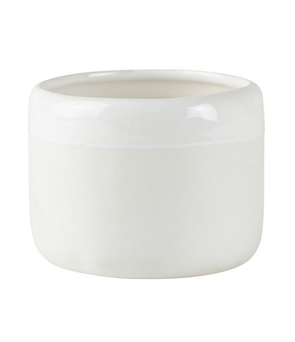 Bloempot - Ceramic - wit - D 11,0cm -  H 8,5cm - P...