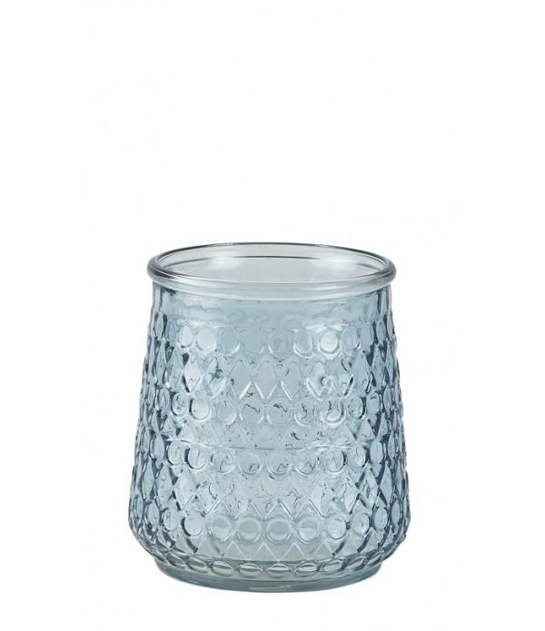Lantaarn - glas - blauw - D 12,5cm - H 14,0cm -  P...