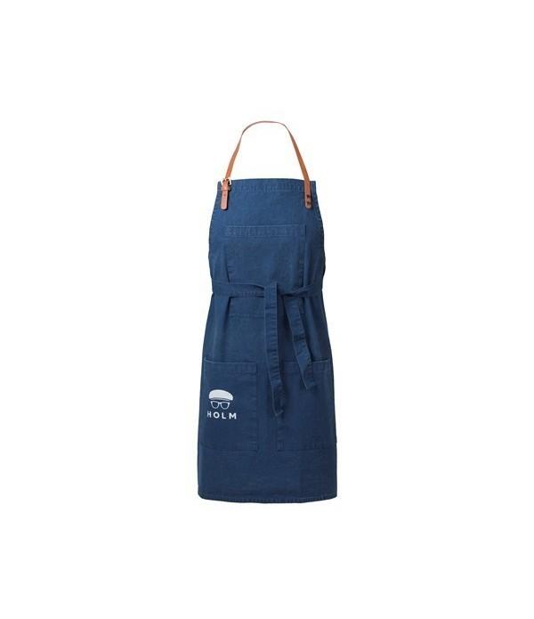 Schort 80x90 cm blauw Holm