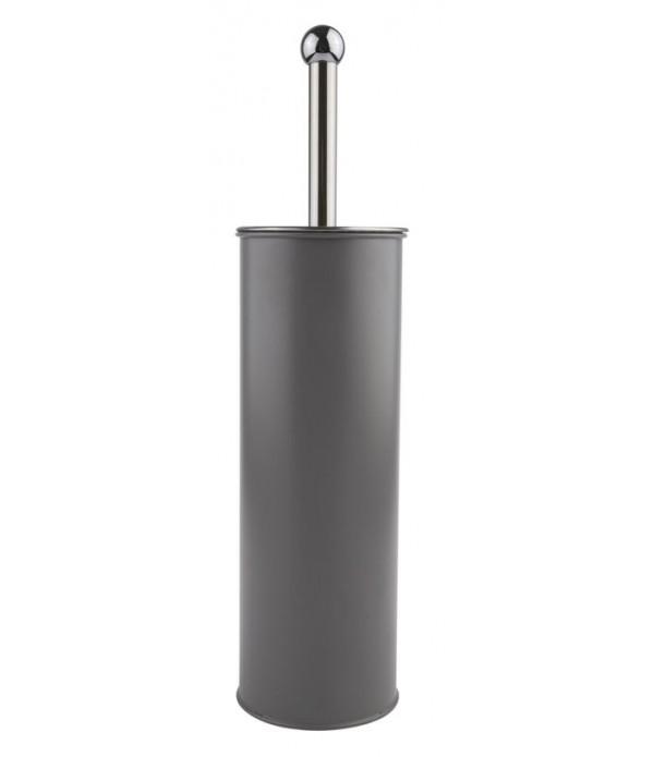 Toiletborstel - grijs - rond - D 9,50 cm - H 37,50