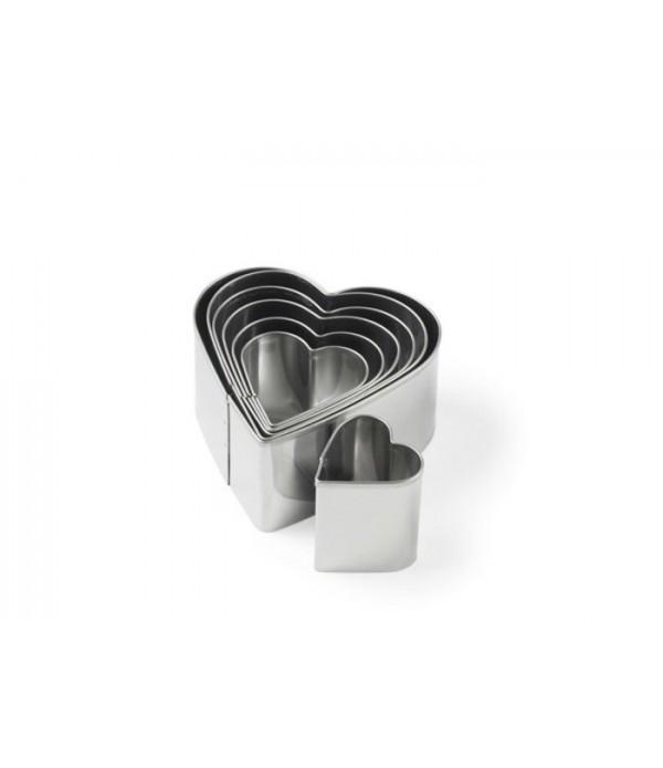 Bakvorm, heart 7 delig