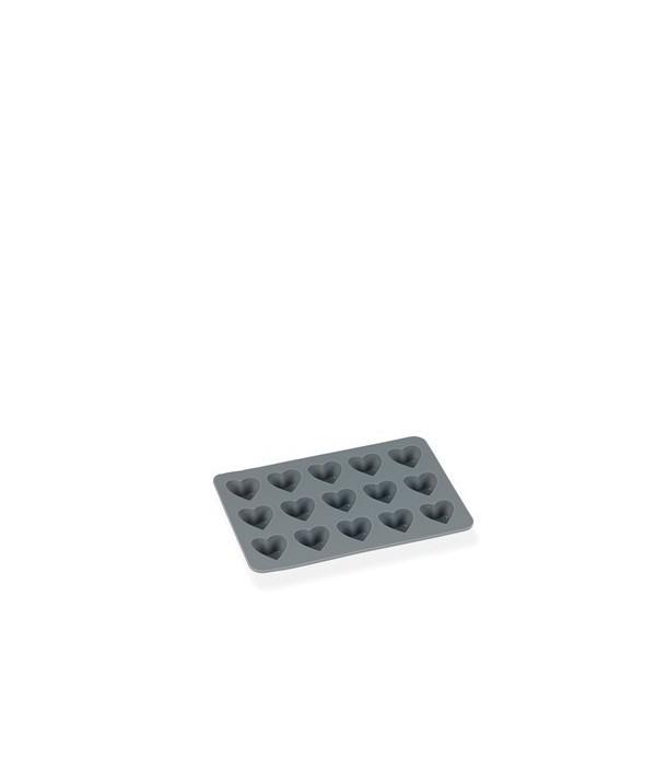 Chocoladevorm Hartjes grijs silicone Funktion