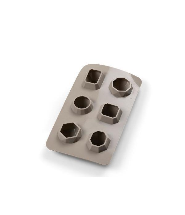 IJsblokjes vorm silicone diamond Grijs