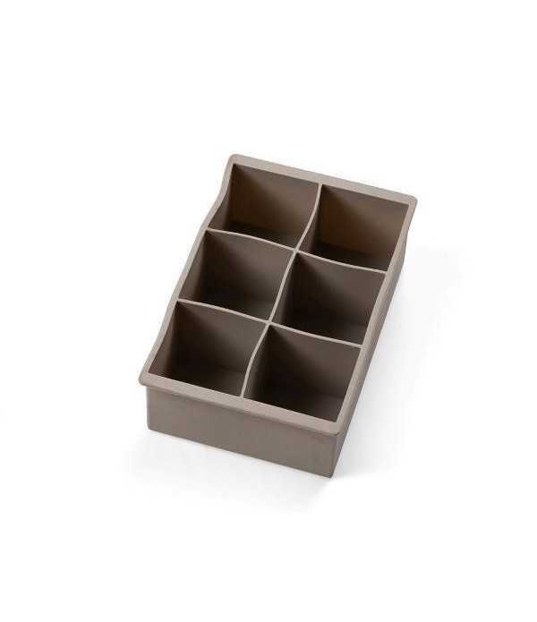 IJsblokjes vorm silicone hoog grijs/blauw