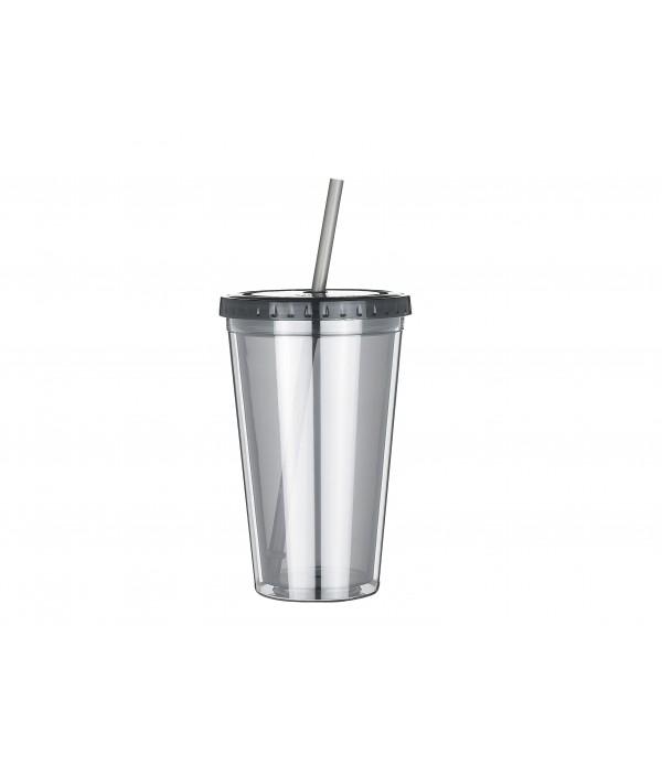 Beker met rietje 500 ml Tritan