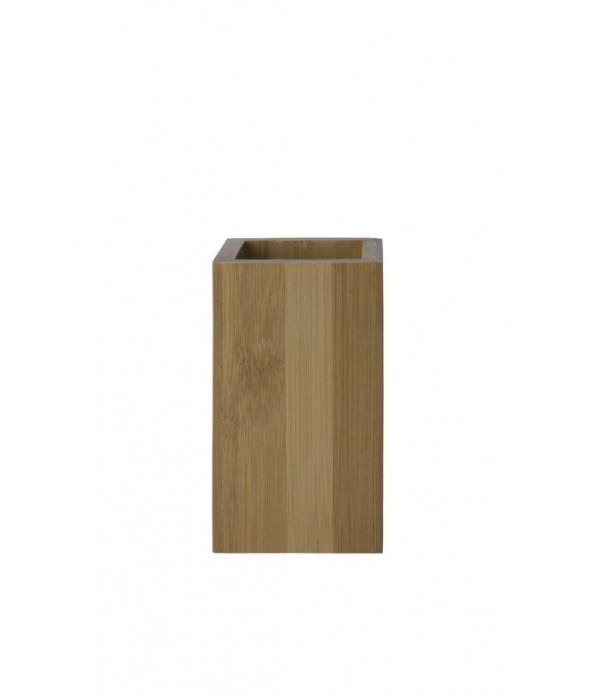 Tandenborstelbeker - bamboe - 7 x 7 x 11,5 cm