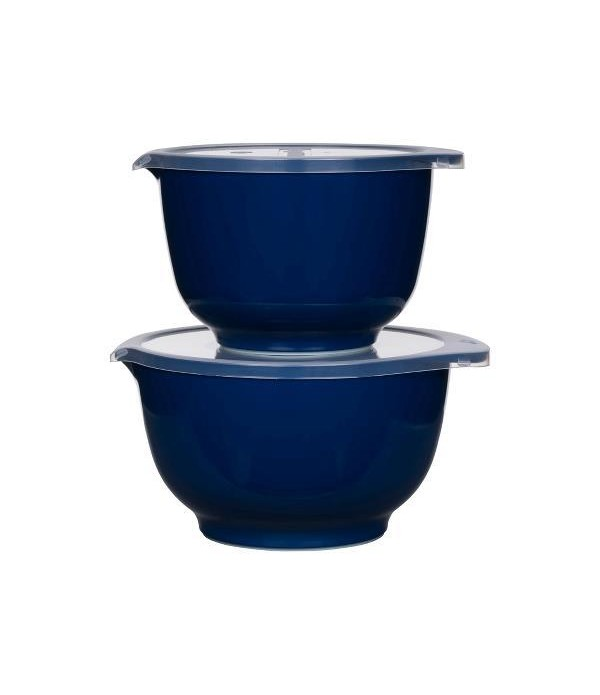 Beslagkom 2+3L met deksel Indigo blauw