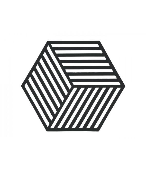 Onderzetter 352097 3D - Hexagon - zwart