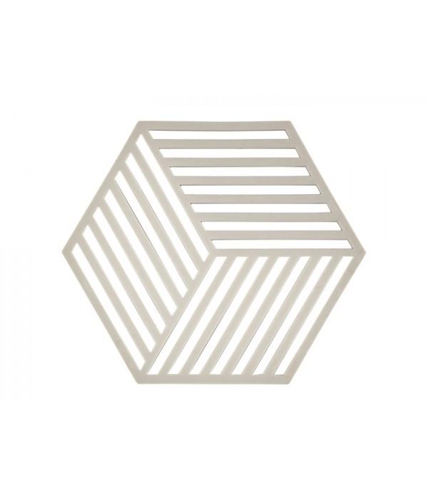 Onderzetter 352098 3D - Hexagon - cool grijs