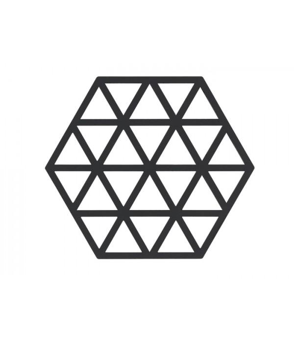 Onderzetter 371030 - TRIANGLES - zwart