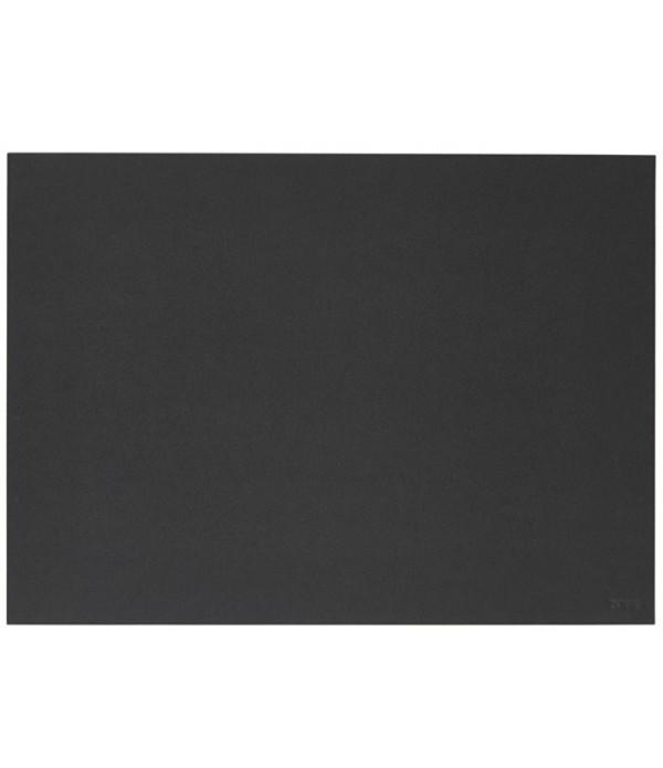Placemat 371148 linoleum zwart 40 x 30