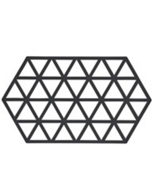 Onderzetter 372063 - TRIANGLES - zwart - 24 x 14 c...