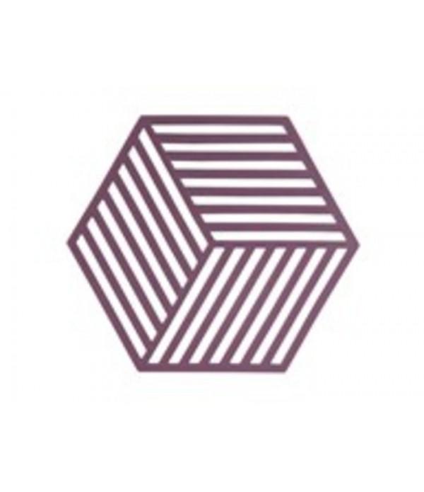 Onderzetter 381002 3D - Hexagon - rode biet