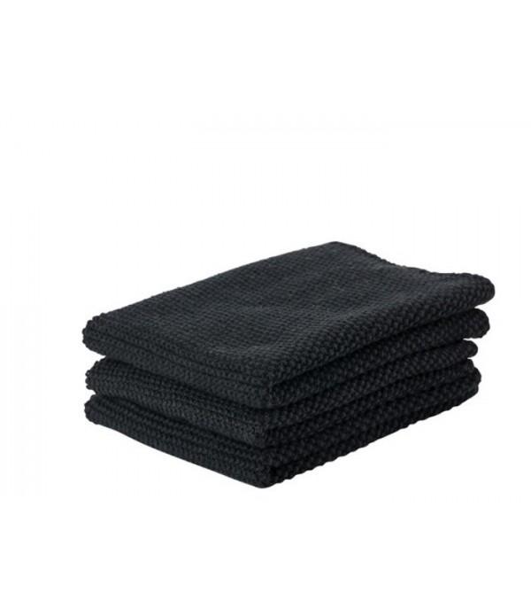 Keukendoekje 381089 - zwart - set van 3