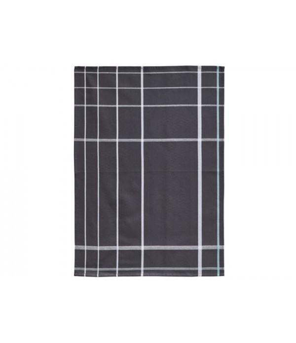 Theedoek 381098 - Dark grijs - wit