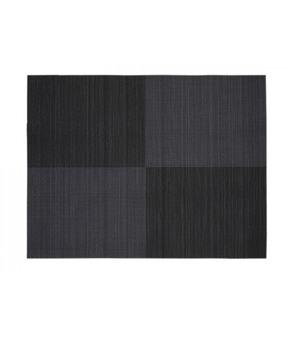 Placemat 861321 - Zone Denmark zwart vierkant patroon