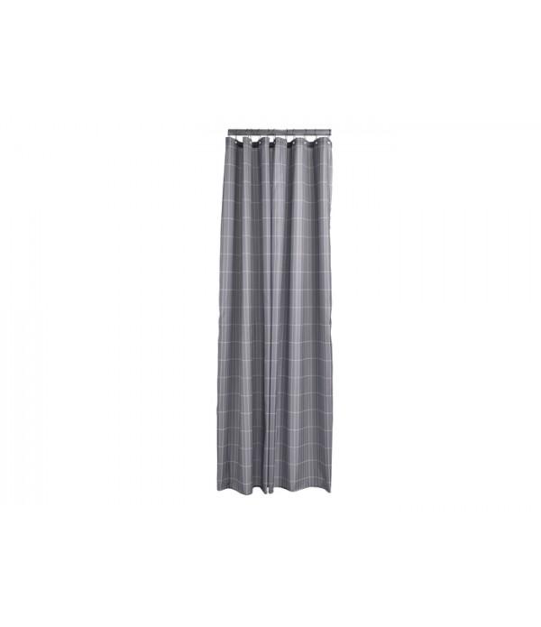 Douchegordijn Tiles - Slate grijs -  200 x 180 cm