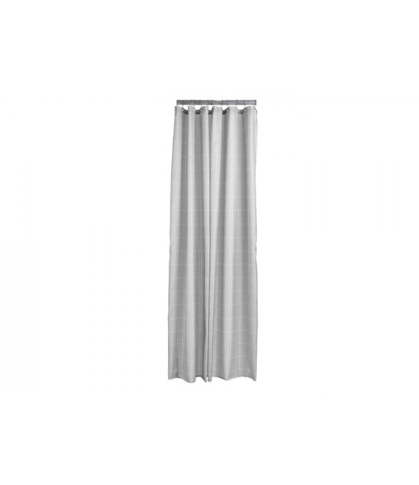 Douchegordijn Tiles - soft grijs - wit -  200 x 18...