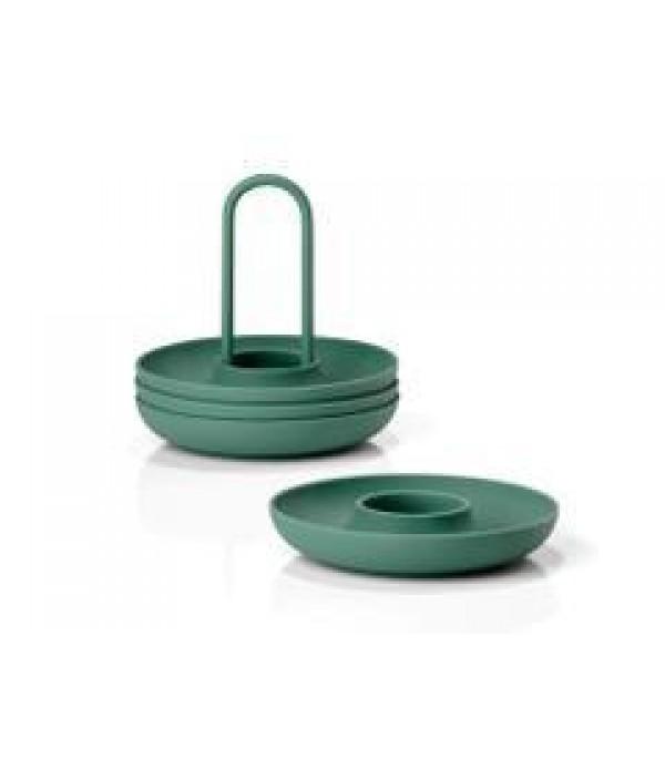 Eierdop - 4 Delig - met houder - Smaragdgroen