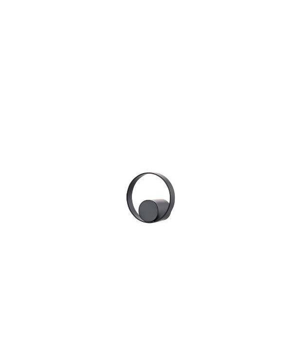 Haak - HookedOnRings - 18/8 - zwart - dia. 4,7cm