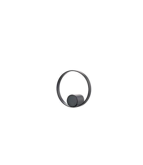 Haak - HookedOnRings - 18/8 - zwart - dia. 7,6cm