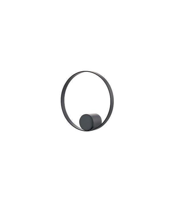 Haak - HookedOnRings - 18/8 - zwart - dia. 10cm