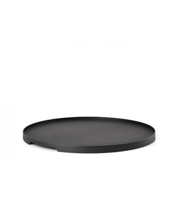 Dienblad - zwart - rond 35 cm