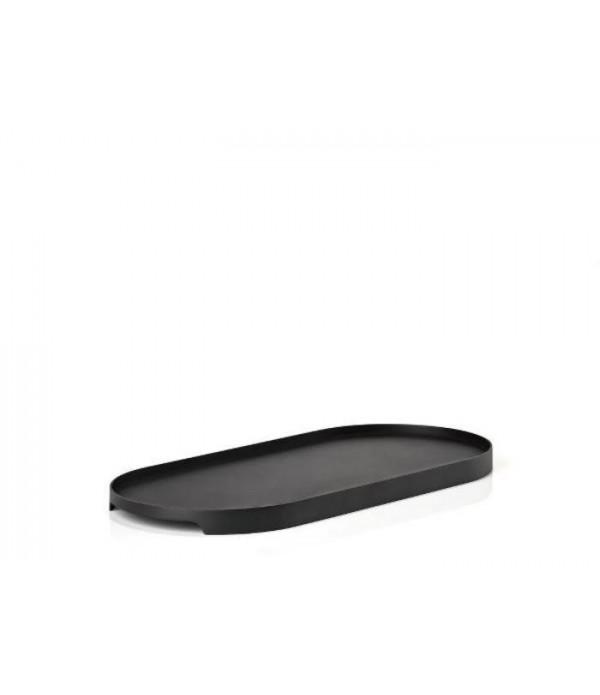 Dienblad - zwart - 35x16 cm Ovaal
