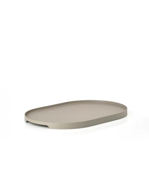 Dienblad - zand - 35x23 cm Ovaal