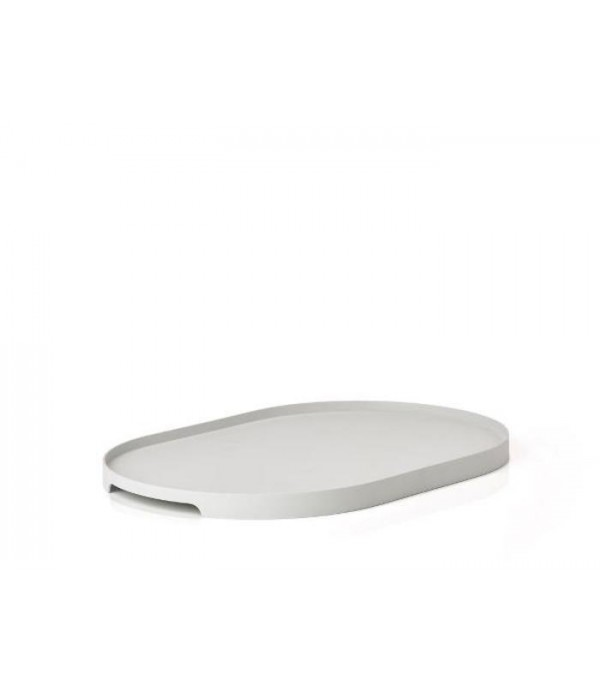 Dienblad - warm grijs - 35x23 cm Ovaal